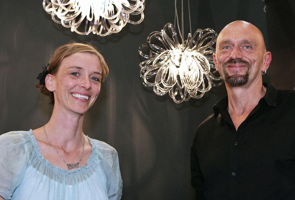 Rike Scholle, Preisträgerin des Eunique Awards 2015, mit Ihrem Partner Eduard Deubzer. Eunique 2016