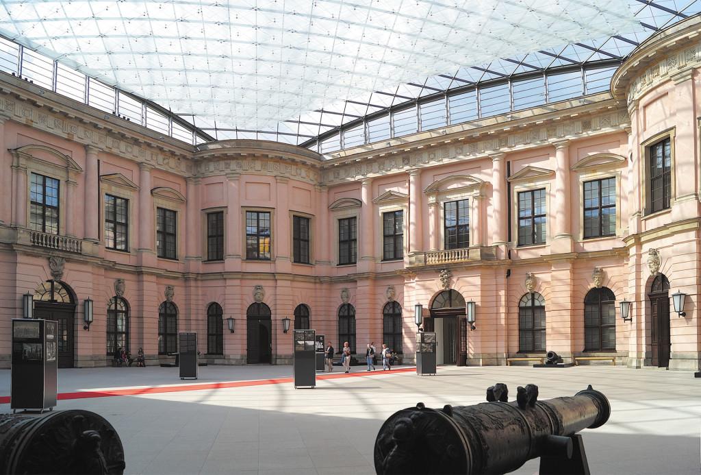 Der Schlüterhof im Deutschen Historischen Museum, Schauplatz der Zeughausmesse