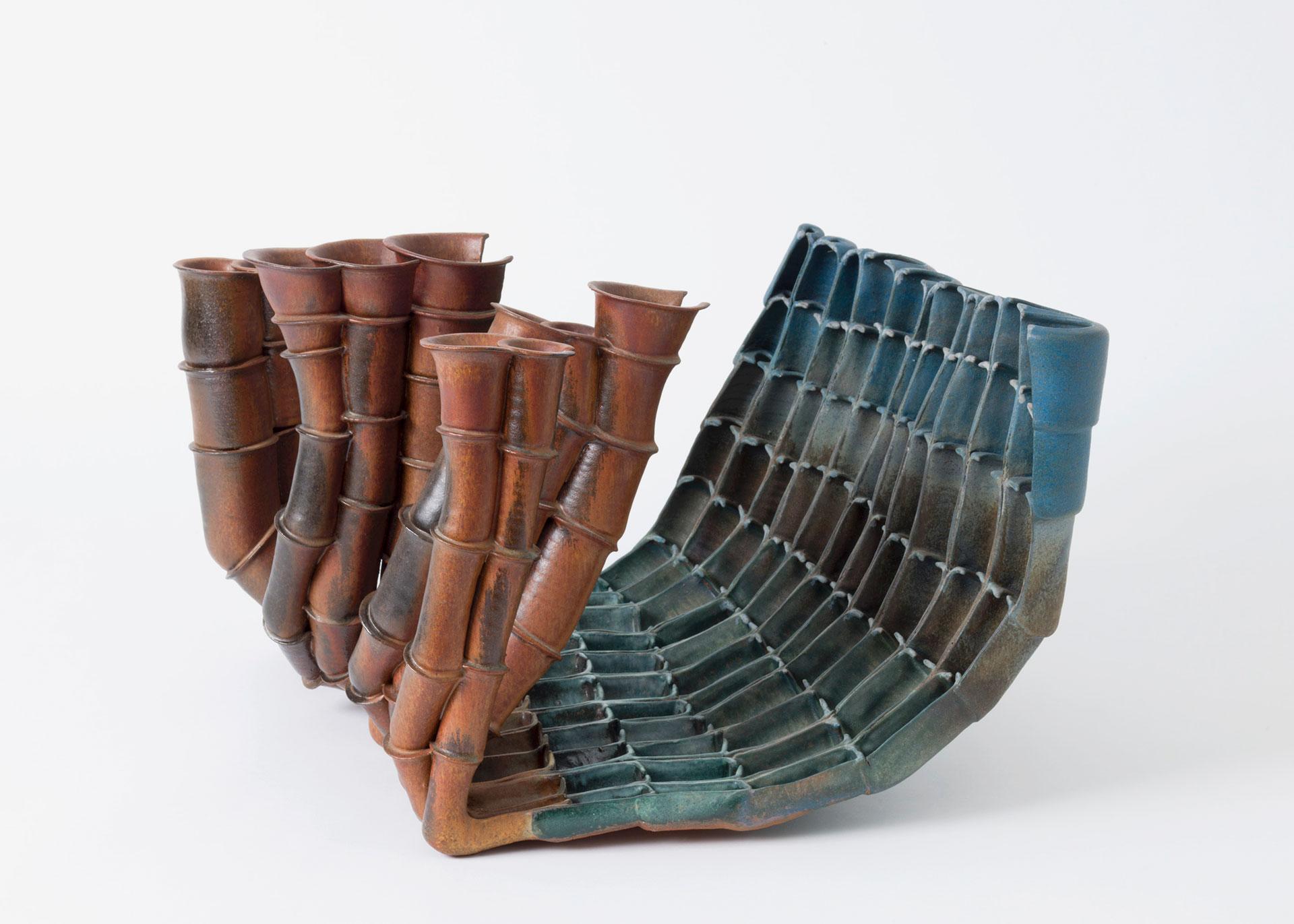 Beate Kuhn, Objekt, Bäume vor Himmel, Steinzeug, Keramik
