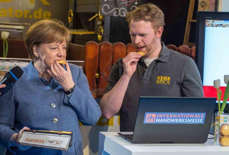 Bayerischer Staatspreis 2018, Angela Merkel, Messerundgang IHM