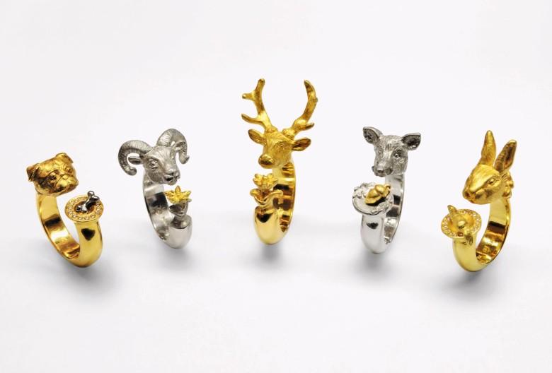 Daniel Hiller, Ringe. Gold 750, Silber 925