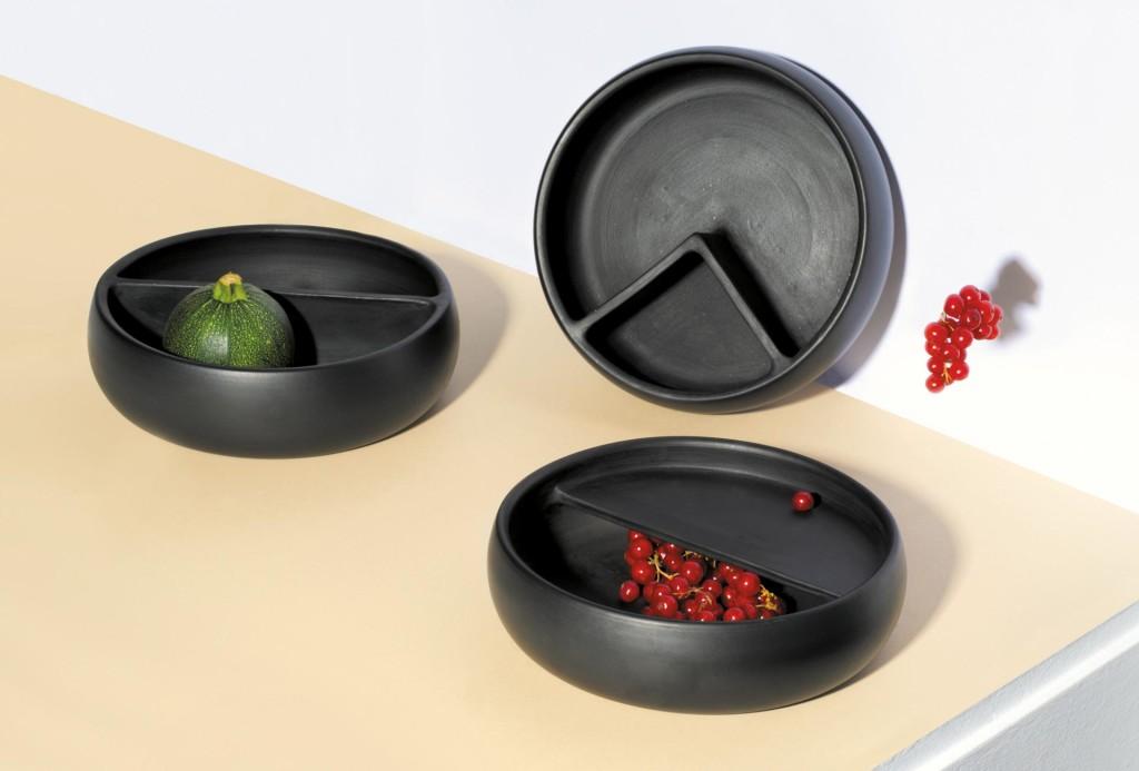 Tafelfreuden, Sara de Campos. Schalen Black Pottery. Ton