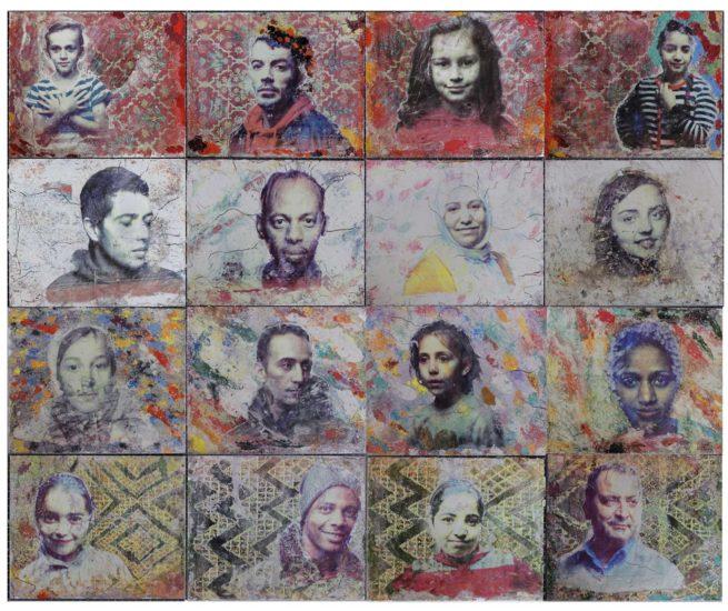 Ira Marom, Kategorie Medien, Flüchtlings-Portraits, gedruckt in Sand und Erde, Manu Factum
